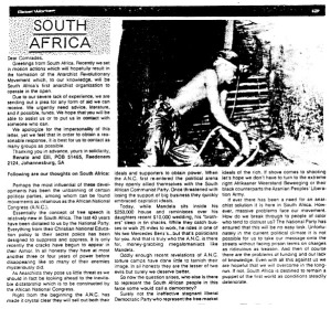 South African anarchist appeal and analysis - 1993