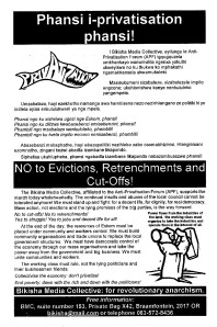 BMC leaflet issued in Kathlehong 10 May 2001