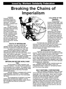 Breaking the Chains of Imperialism - WSF leaflet