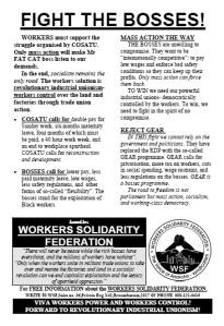 General Strike - WSF, 19 August 1997