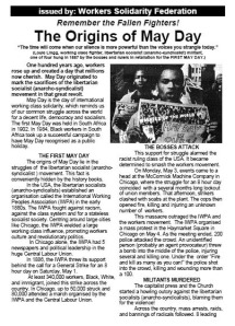 The Origins of May Day - WSF leaflet