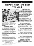 WSF leaflet: The Poor Must Take Back the Land