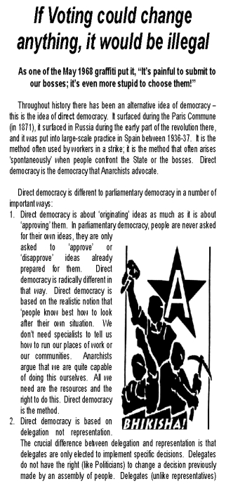 Parliament OR Democracy - leaflet issued in CT crop