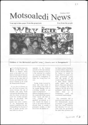 Motsoaledi News cover
