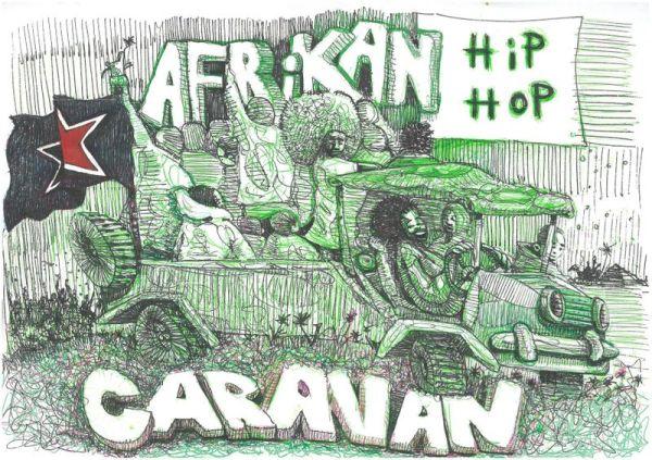 Poster: Soundz of the South, Afrikan Hip Hop Carazan