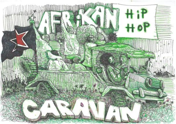 Poster: Soundz of the South, Afrikan Hip Hop Carazan