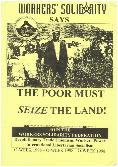WSF - 1998 - The Poor Must Seize the Land poster