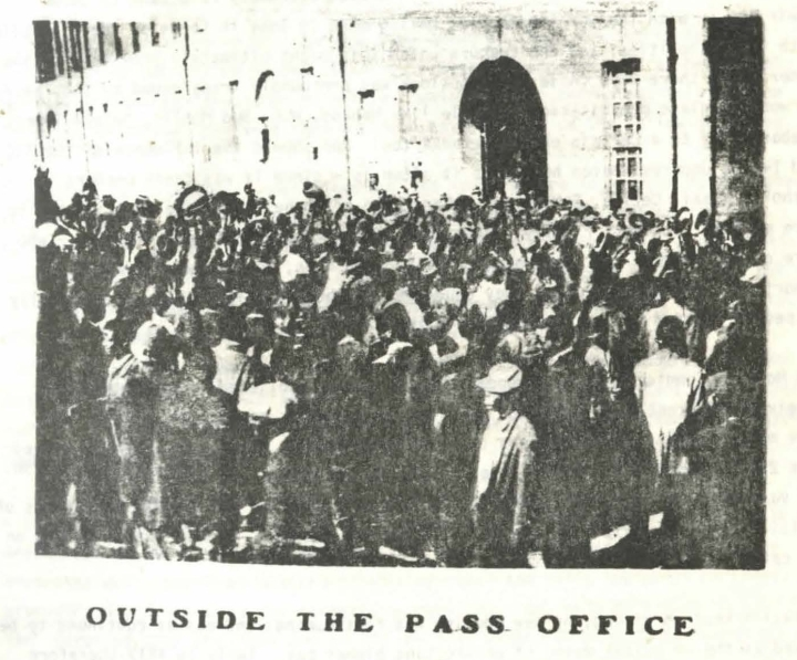 Outside the Pass Office - From Bonner - 1982 - Africa Perspective